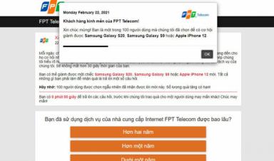 FPT Telecom cảnh báo thủ đoạn lừa đảo thông qua website giả mạo